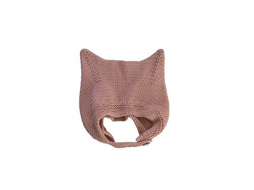 Kitty Buttoned Bonnet Pink 2-4yrs