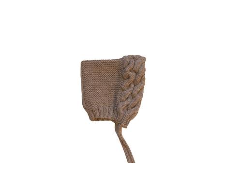 Double Cable Knitted Bonnet Cotton