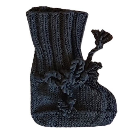 Knitted Boots - Black