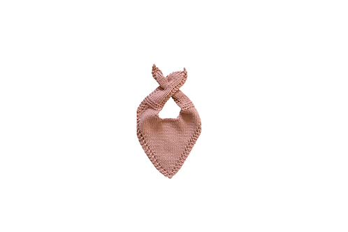 Knitted Baby Bib - Pink