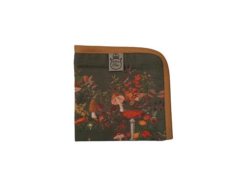 Exclusive Forest Mushroom Muslin Burp Cloth - Green