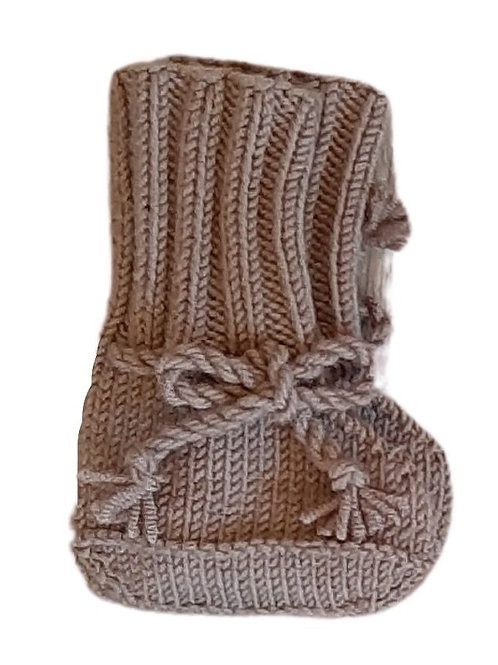 Knitted Boots - Mushroom