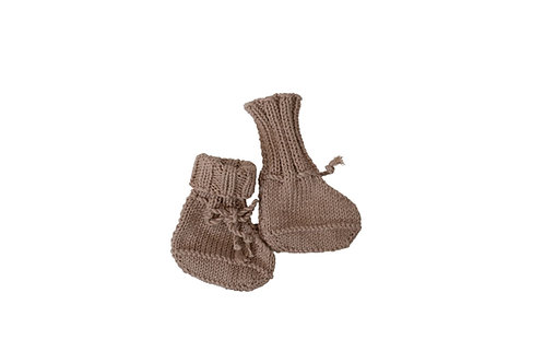 Knitted Boots - Beige