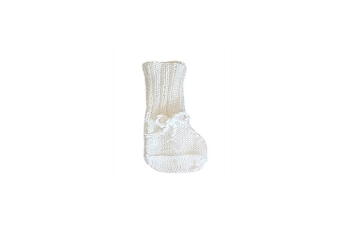Knitted Boots - White
