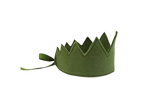 Y'ves Haize Felt Crown - Olive Green
