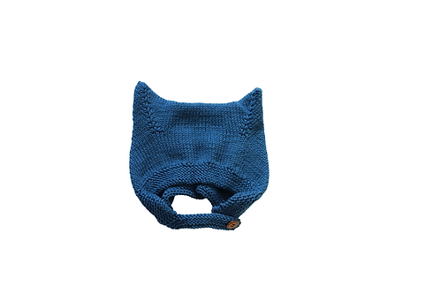 Kitty Buttoned Bonnet Blue 1-2yrs