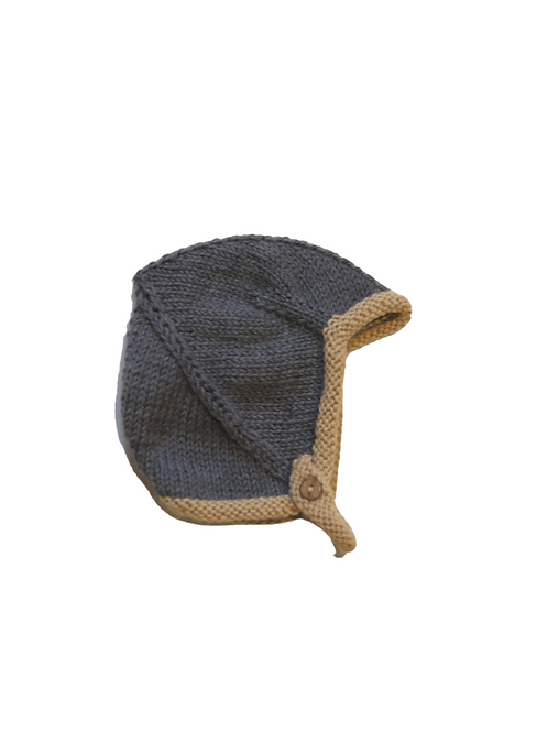Hand Knitted Two Tone Helmet