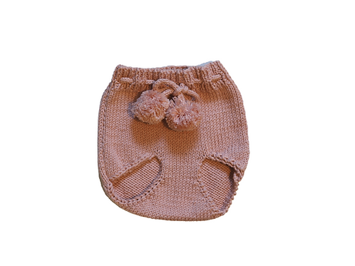Knitted Pom Pilchers/Bloomers Pink 0-6mths