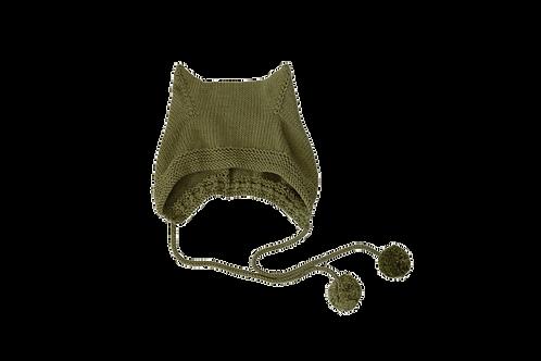Kitty Pom Bonnet Wool