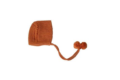 Knitted Charlotte Bonnet Apricot 0-3mths