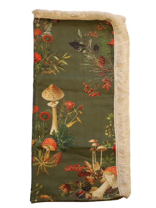 Exclusive Forest Mushroom Muslin Wrap - Green