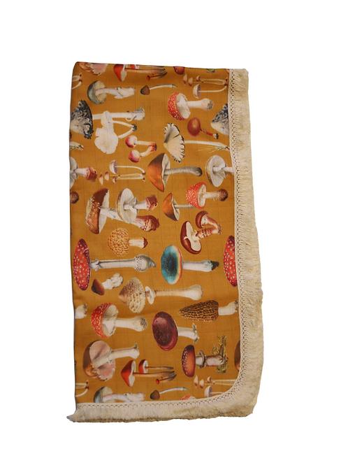 Exclusive Mushroom Muslin Wrap - Mustard
