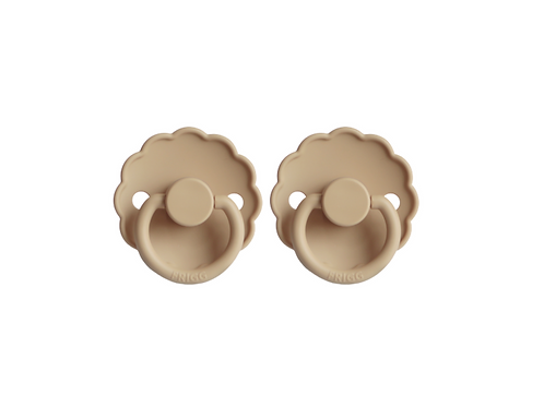 FRIGG Pacifier 2 Pack Daisy - Croissant