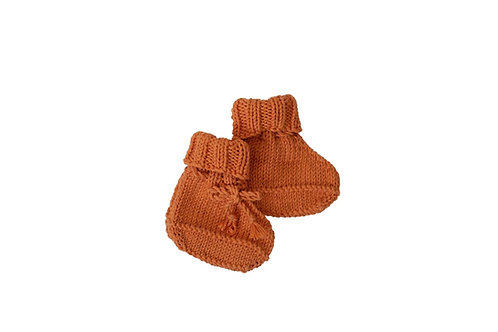 Knitted Boots - Apricot