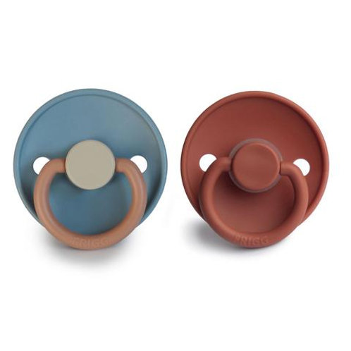 FRIGG Pacifier 2 Pack Colour Block Breeze & Baked Clay
