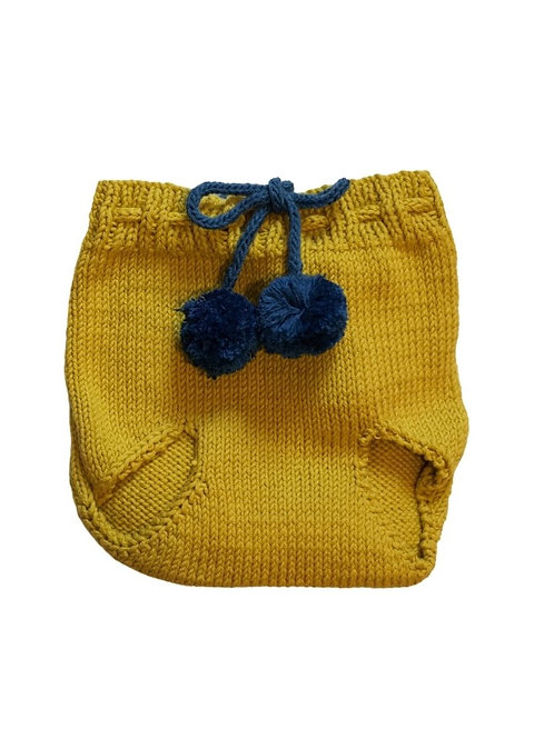 Two Tone Knitted Pom Pilchers/Bloomers x 2