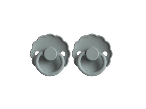 FRIGG Pacifier 2 Pack Daisy - French Grey