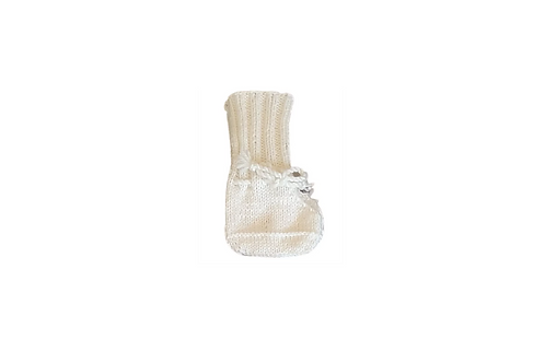 Knitted Boots - Cream