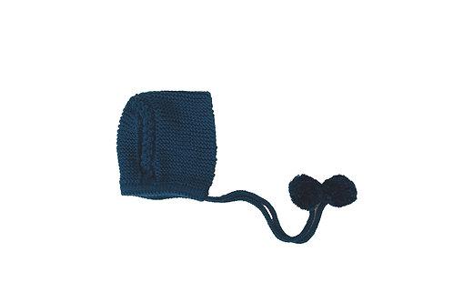 Knitted Charlotte Bonnet Blue 0-3mths