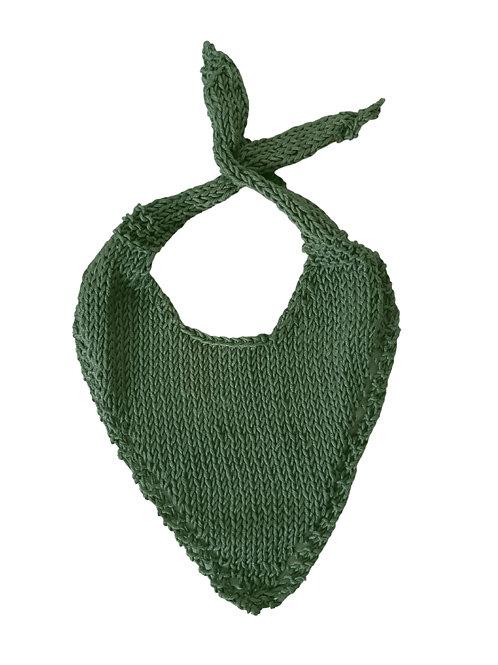 Knitted Baby Bib - Green
