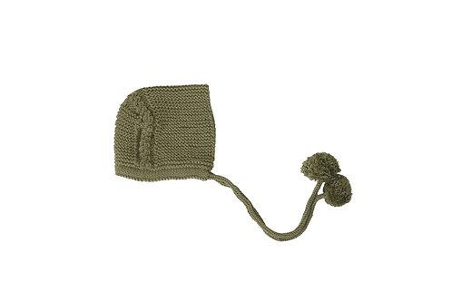 Knitted Charlotte Bonnet Green 0-3mths