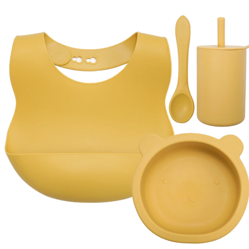 Silicone Baby Set - Mustard