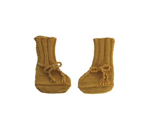 Knitted Boots Marigold Mustard Newborn