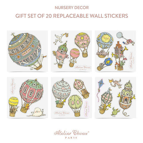 Atelier Choux Replaceable Wall Stickers x 20 pack