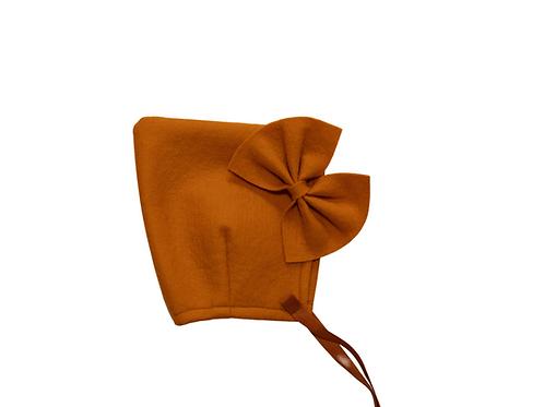 Felt Bonnet With Bow