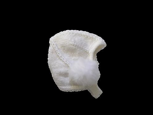 Hand Knitted Pom Helmet