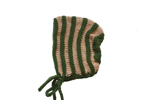 Alfie Bonnet - Forest Green & Beige
