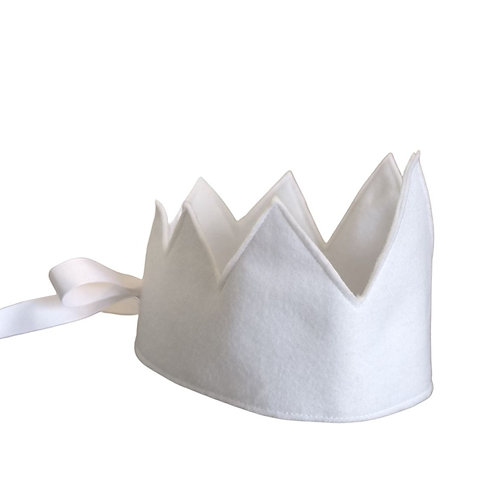 Y'ves Haize Felt Crown - White