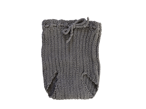 Knitted Ribbed Pilchers Dark Grey Cotton 0-3mths