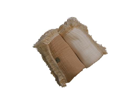 Thick 6 Layer Muslin Tassel Wrap