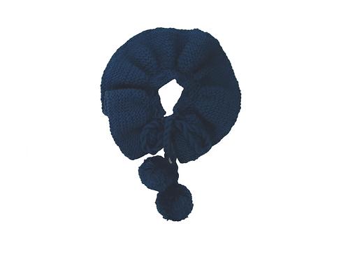 Newborn -6mths Knitted Collar Blue