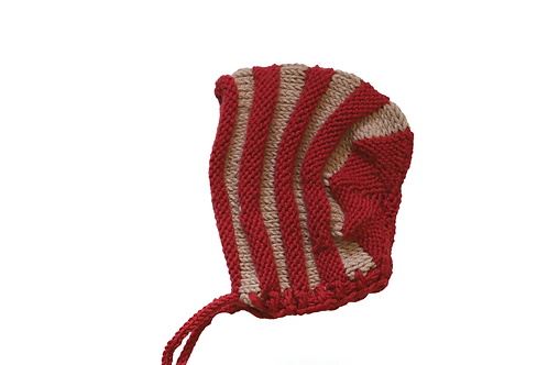 Alfie Bonnet - Red & Beige