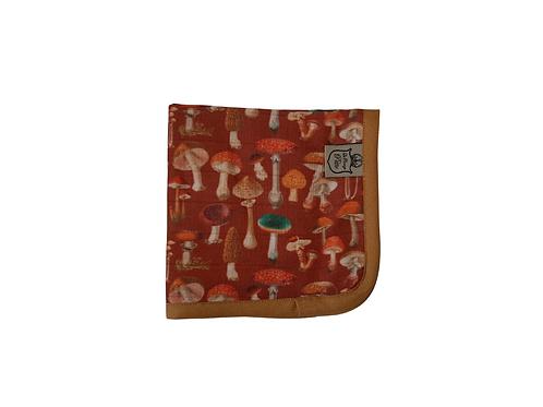 Exclusive Mushroom Muslin Burp Cloth - Rust