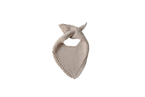 Knitted Baby Bib - Cream