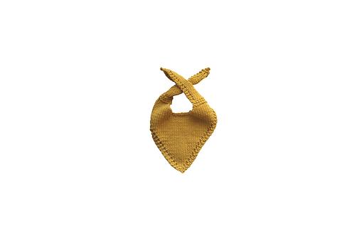 Knitted Baby Bib - Marigold Mustard