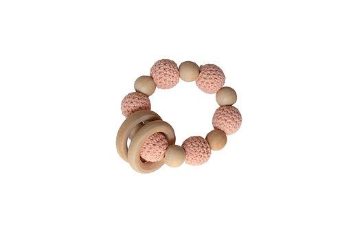 Wooden Crochet Teether -Pink