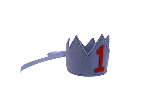 Y'ves Haize Personalised Felt Crown 'Numbers'