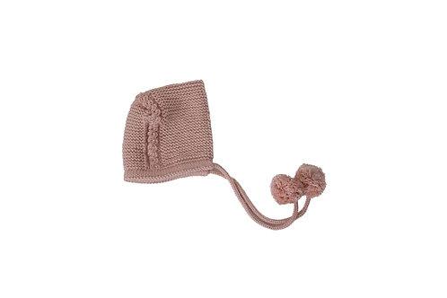 Knitted Charlotte Bonnet Pink 0-3mths
