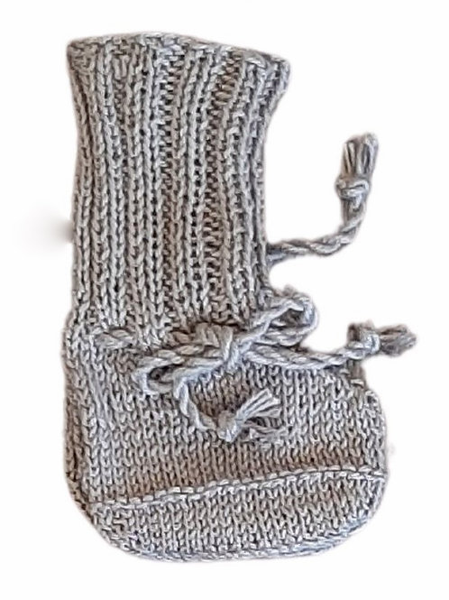 Knitted Boots - Light Grey