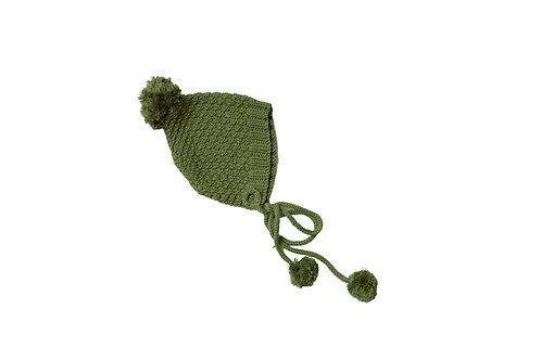 Hand Knitted Pom Pixi Bonnet x 2