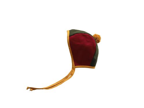 Two Tone Linen Helmet Pom Bonnet -Bespoke x 2