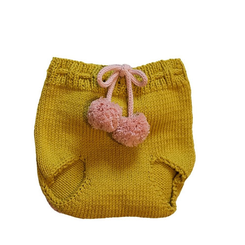 Two Tone Knitted Pom Pilchers/Bloomers