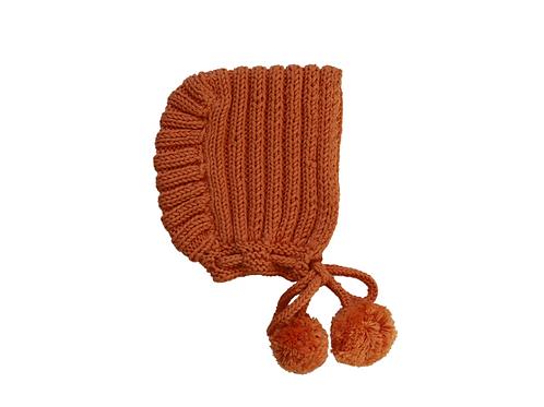 Ribbed Bonnet Apricot 6-12mths