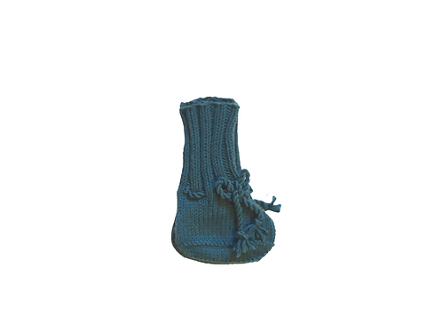 Hand Knitted Teal Booties 3-6mths