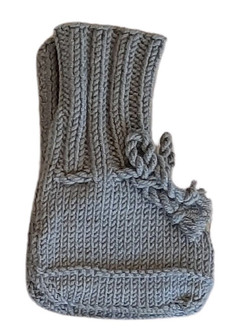 Knitted Boots - Dark Grey