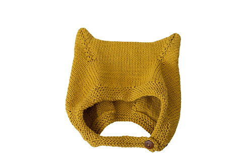 Kitty Buttoned Bonnet Wool x 2